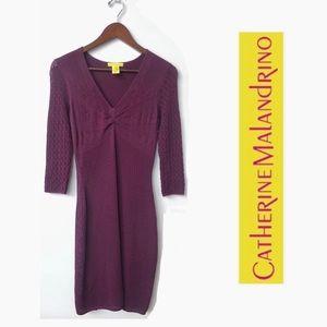 Catherine Malandrino Plum Stretch Knit Dress